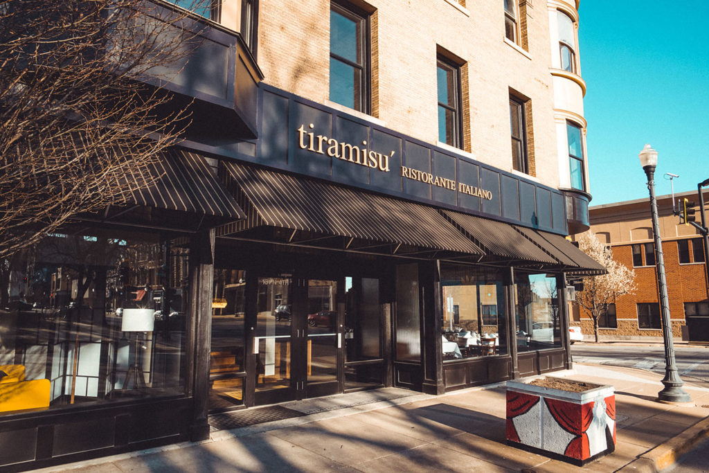 Exterior photo of Tiramisu restaurant's new location in Quincy, Illinois